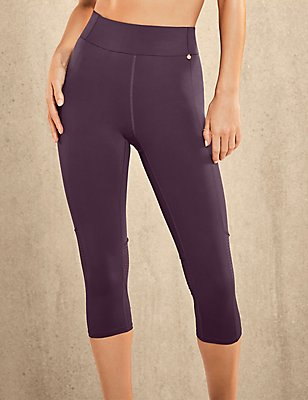 Active Cropped Leggings, PURPLE, catlanding