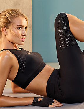 Active Cropped Leggings, BLACK, catlanding