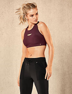 Active Extra High Impact Bra, PURPLE, catlanding