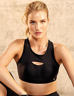 Active Extra High Impact Bra, BLACK, catlanding