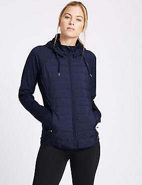 Hooded Zip Through Jacket, NAVY, catlanding