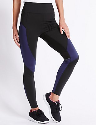 Sculpt Colour Block Leggings, BLUE MIX, catlanding