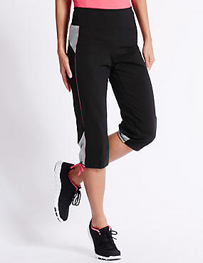 Active Cotton Cropped Joggers, BLACK MIX, catlanding
