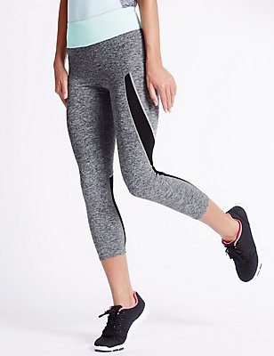 Performance Marl Cropped Leggings, GREY MARL, catlanding