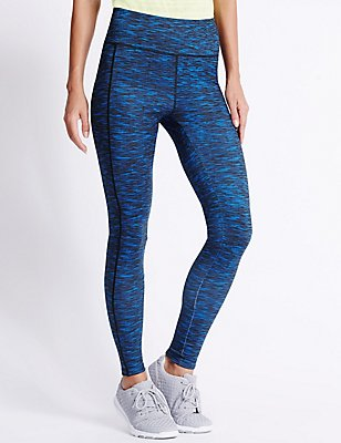Performance Textured  Leggings, BLUE MIX, catlanding