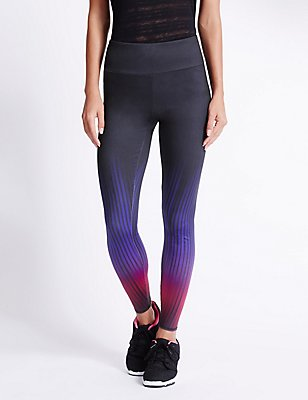 Performance Ombre Print Leggings, BLACK MIX, catlanding