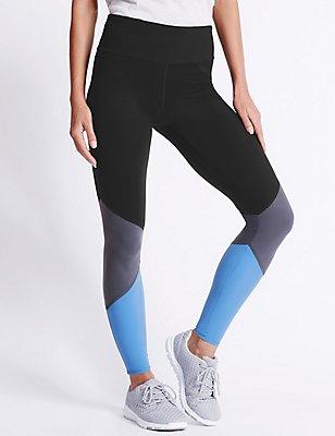 Sumptuosly Soft Colour Blocked Leggings, BLACK MIX, catlanding
