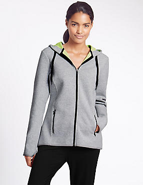 Cotton Rich Hooded Sweatshirt, GREY MIX, catlanding