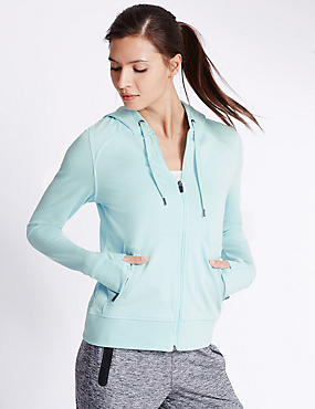 Sporty Hooded Sweatshirt, MINT, catlanding