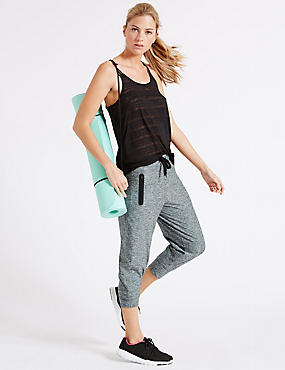 Supersoft Cropped Joggers, GREY MIX, catlanding