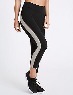 Cotton Rich Cropped Leggings with Cool Comfort™ Technology, BLACK MIX, catlanding