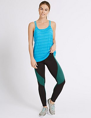 Colour Block Leggings with Cool Comfort™ Technology, KINGFISHER, catlanding