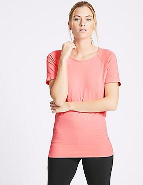 Seamless Short Sleeve T-Shirt, VERY PINK, catlanding