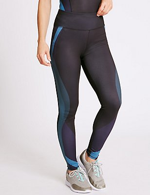 Printed Leggings with Cool Comfort™ Technology, TEAL MIX, catlanding