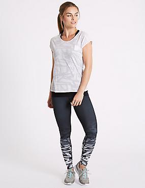 Printed Leggings, BLACK MIX, catlanding