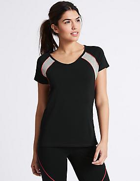 Active Cotton Rich T-Shirt, BLACK MIX, catlanding