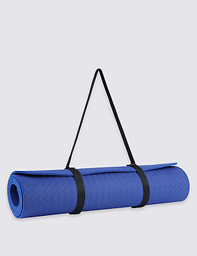 Textured Yoga Mat, DARK BLUE, catlanding