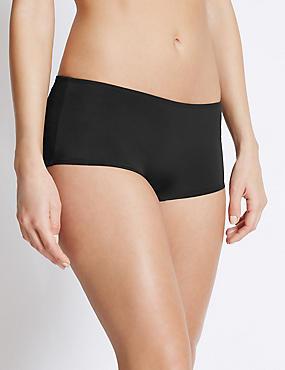 Sporty Boyshort Bikini Bottoms, BLACK, catlanding