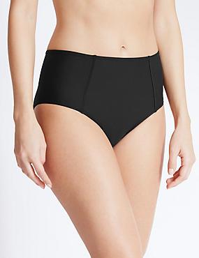 Bikinibroekje met hoge taille, ZWART, catlanding