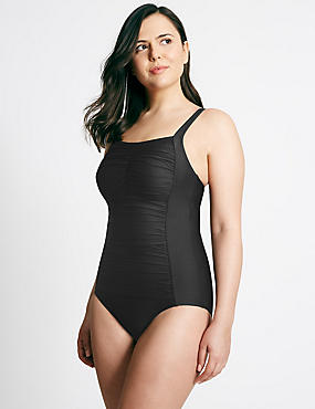Post Surgery Secret Slimming™ Swimsuit, BLACK, catlanding