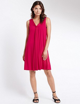 V-Neck Vest Beach Dress with Cool Comfort™ Technology, PINK, catlanding