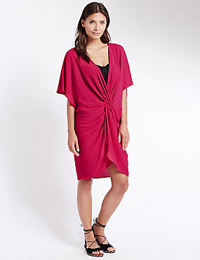 Knot Front Kaftan with Cool Comfort™ Technology, PINK, catlanding