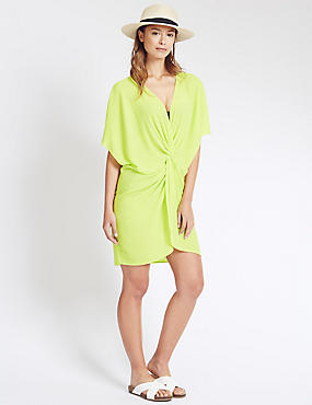 Knot Front Kaftan with Cool Comfort™ Technology, LIME, catlanding