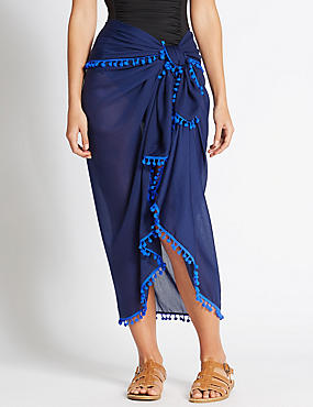 Waist Tie Sarong, BLUE, catlanding