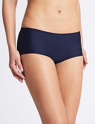 Boyshorts Style Bikini Bottoms, NAVY, catlanding