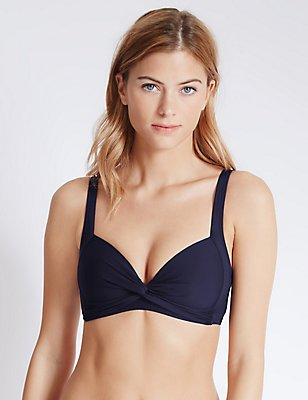 Gevulde bikinitop, MARINE, catlanding