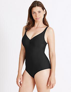 Secret Slimming™ Swimsuit DD-G, BLACK, catlanding