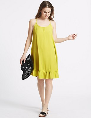 Woven Vest Dress, CITRUS, catlanding