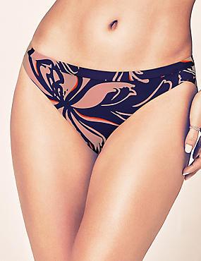 Bas de bikini taille basse avec imprimé, BLEU ASSORTI, catlanding