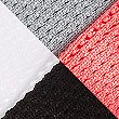 4 Pair Pack Sports Trainer Liner Socks, WHITE MIX, swatch