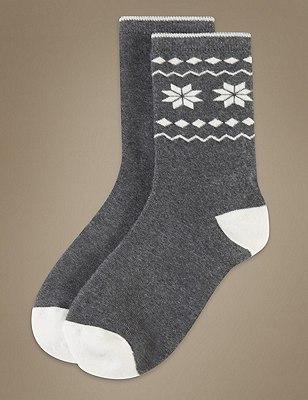 Assorted Socks 2 Pair Pack, GREY MIX, catlanding