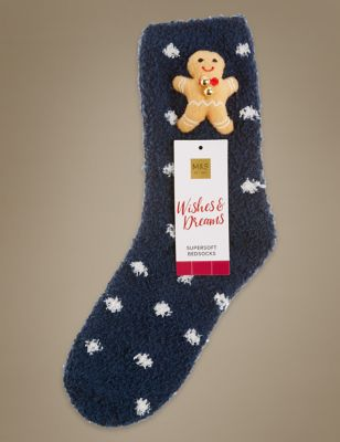 Носки с 3D Gingerbread Man M&S Collection T600602
