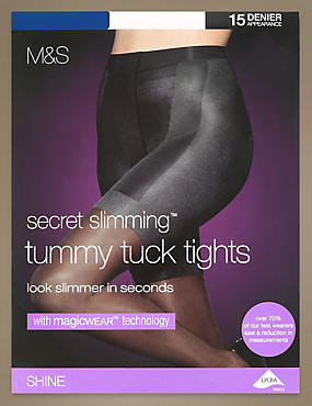 15 Denier Magicwear™ Secret Slimming™ Tummy Tuck Shine Tights 1 Pair Pack