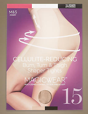 15 Denier Secret Slimming™ Tights, NATURAL TAN, catlanding