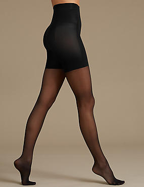 15 Denier Secret Slimming™ Tights, BLACK, catlanding
