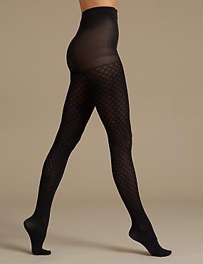 Secret Slimming™ Opaque Body Shaper Tights, BLACK, catlanding