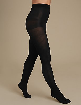 Secret Slimming™ Diamond Body Shaper Tights, BLACK, catlanding