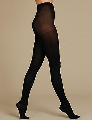 Niet-doorschijnende Secret Slimming™-panty, ZWART, catlanding
