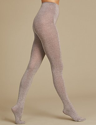 Marl Opaque Tights, MINK MIX, catlanding