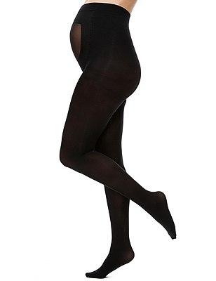 40 Denier Body Sensor™ Opaque Maternity Tights 1 Pair Pack, BLACK, catlanding