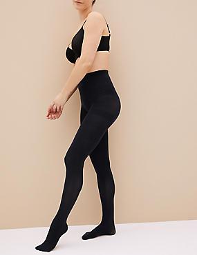 3 niet-doorschijnende Body Sensor™-panty's (60 denier), MARINE, catlanding