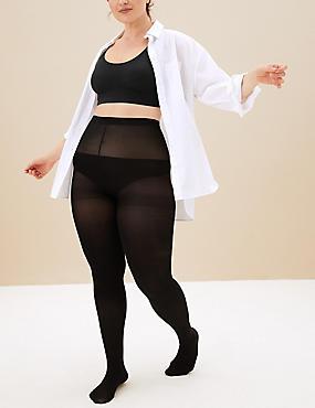 3 niet-doorschijnende Body Sensor™-panty's (60 denier), ZWART, catlanding