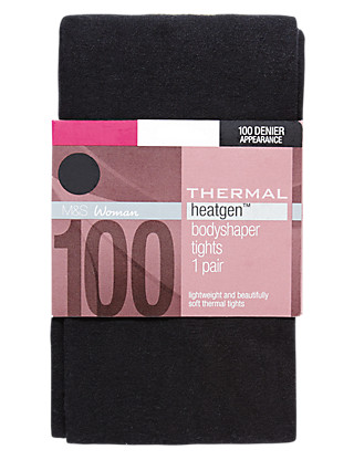 100 Denier Heatgen™ Opaque Body Shaper Tights 1 Pair Pack Clothing