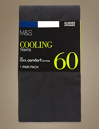 60 Denier Cool Comfort™ Opaque Tights 1 Pair Pack Clothing