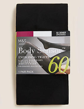 60 Denier Body Sensor™ Energising Opaque Tights , BLACK, catlanding