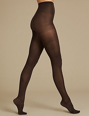 3 Pair Pack 40 Denier Supersoft Opaque Tights, CHOCOLATE, catlanding